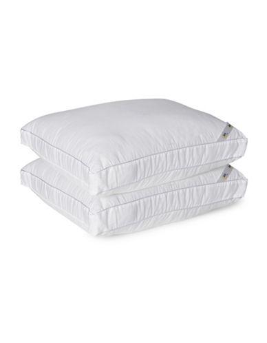 Serta Set of Two Pillows-WHITE-Queen