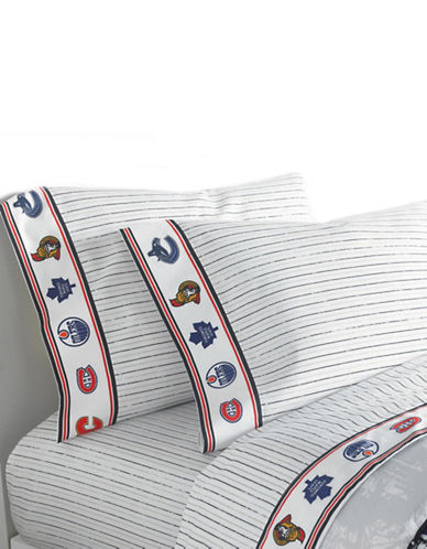 Nhl Breakaway 200 Thread Count Three-Piece Sheet Set-MULTI-Double