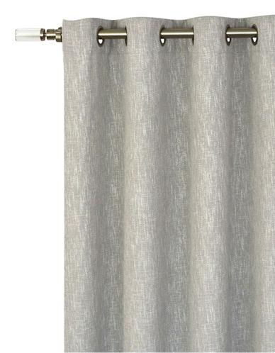 Bonavista Fabrics Sandlewood Berry Grommet Curtain-GREY-One Size