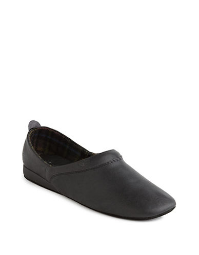 Dockers Baron Leather Slippers-BLACK-12W