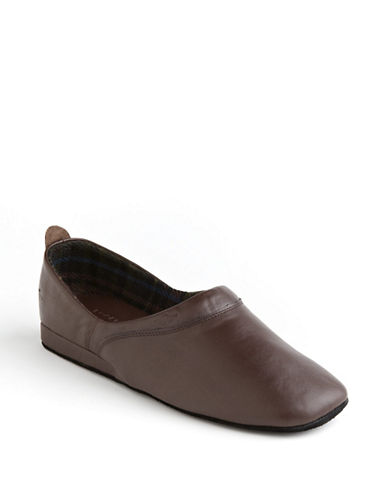Dockers Baron Leather Slippers-BROWN-9W