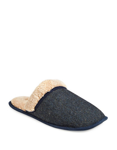 Dockers Durham Tweed Slippers-NAVY-10