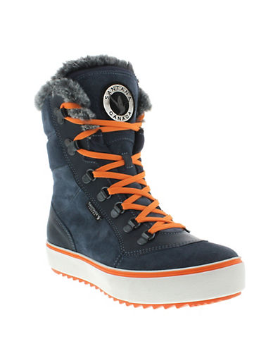 Santana Canada Mixx Faux Fur-Trimmed Boots-BLUE-10