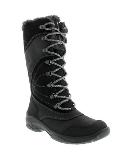 Santana Canada Topspeed Tall Leather Mid-Calf Boots-BLACK-10