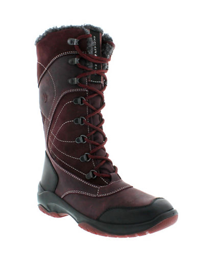 Santana Canada Topspeed Tall Leather Mid-Calf Boots-BORDEAUX-9