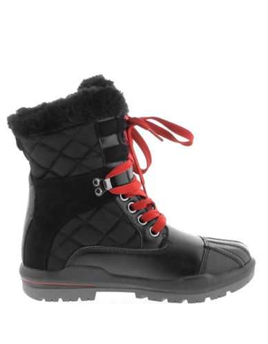 Aquatherm By Santana Canada Sauble Quilted Winter Boots-BLACK-6