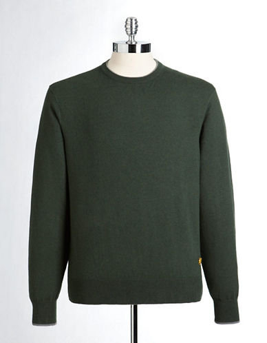 Lincs David Chu Cotton and Cashmere Crewneck Sweater-GREEN-XX-Large