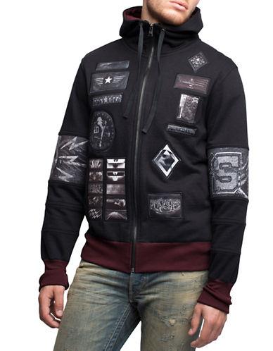 Rogue State Patchwork Fleece Hoodie-BLACK-Medium 88150277_BLACK_Medium