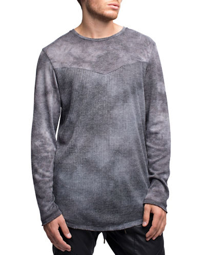 Rogue State Contrast Ribbed Top-CHARCOAL-Medium