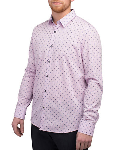 English Laundry Medallion Print Shirt-PINK-Small