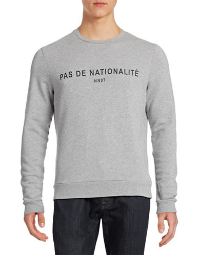 Nn07 Frenchie Print Crew Neck Sweater-GREY-X-Large 88226583_GREY_X-Large
