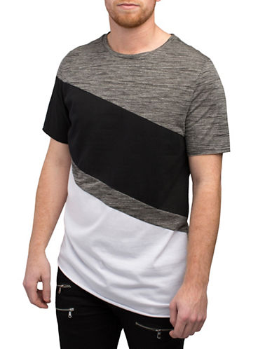 Rogue State Contrast Textured Tee-GREY-Large 88254143_GREY_Large