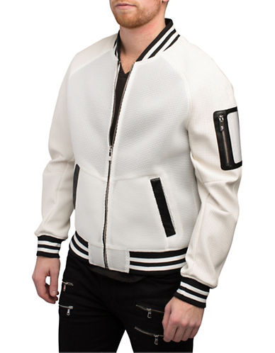 Rogue State Honeycomb Varsity Baseball Jacket-WHITE-Medium 88322823_WHITE_Medium