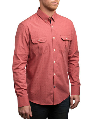 English Laundry Square Dobby Shirt-PINK-Small