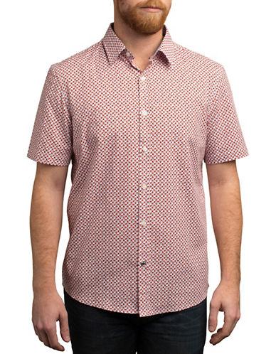 English Laundry Shadowbox Regular Fit Sport Shirt-ORANGE-Large