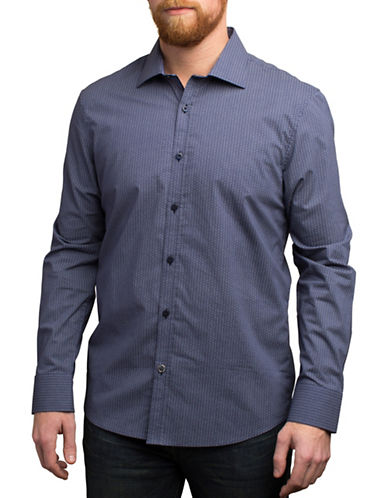 English Laundry Circle Printed Cotton Shirt-NAVY-Large