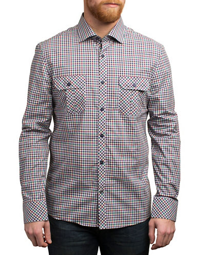 English Laundry Long Sleeve Plaid Patterned Shirt-MULTI-COLOURED-X-Large