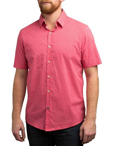 English Laundry Paisley Outline Regular Fit Sport Shirt-ORANGE-Small