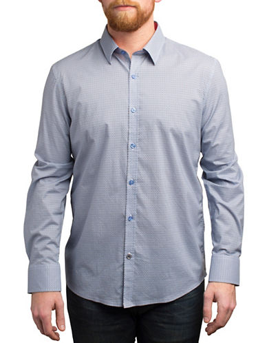 English Laundry Linked-Circle Printed Shirt-BLUE-X-Large
