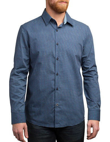 English Laundry Dual Coloured Hearts Shirt-NAVY-Medium
