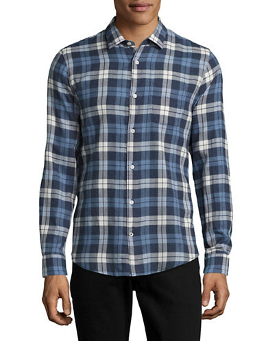 Nn07 Mélange Check Sport Shirt-BLUE-Large