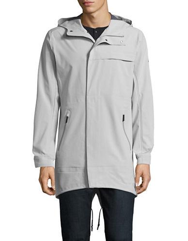 Nn07 Waterproof Hooded Jacket-LIGHT GREY-Medium