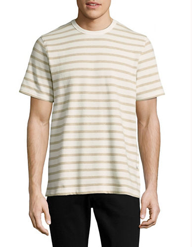 Nn07 Basic Striped Crew Neck T-Shirt-BEIGE-Medium