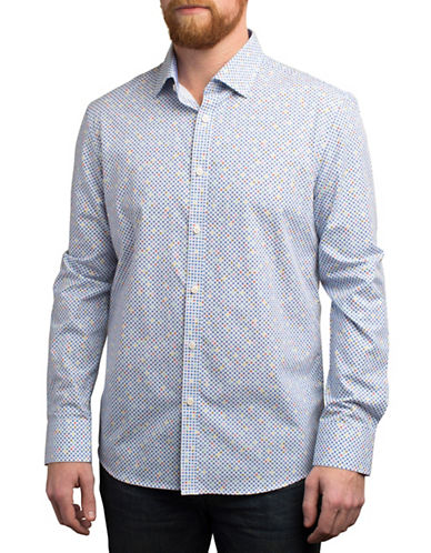 English Laundry Multi-Coloured Star Regular Fit Sport Shirt-MULTI-COLOURED-Small