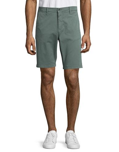 Nn07 Crown Garment-Dyed Shorts-GREEN-31X32