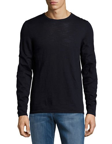 Nn07 Rolled Crew Neck Sweater-NAVY-Medium