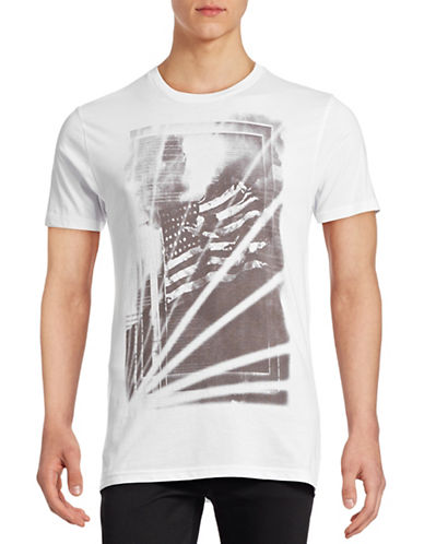 Rogue State Skeleton Cotton Casual T-Shirt-WHITE-X-Large 88887676_WHITE_X-Large