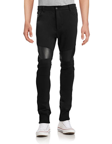 Rogue State Leather-Trim Moto Joggers-BLACK-X-Large 88887693_BLACK_X-Large