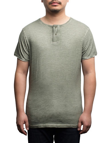 Rogue State Cotton Henley-BROWN-Medium