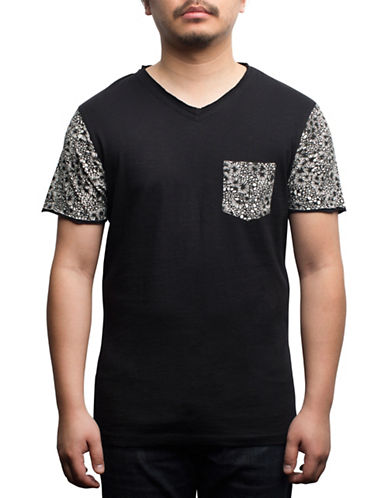 Rogue State Cotton Graphic-Contrast Tee-BLACK-Medium