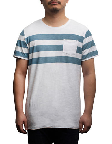 Rogue State Short Sleeve Striped T-Shirt-BLUE-Large
