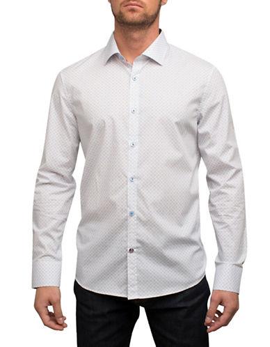 English Laundry Linked Circle Print Cotton Sport Shirt-WHITE-Large