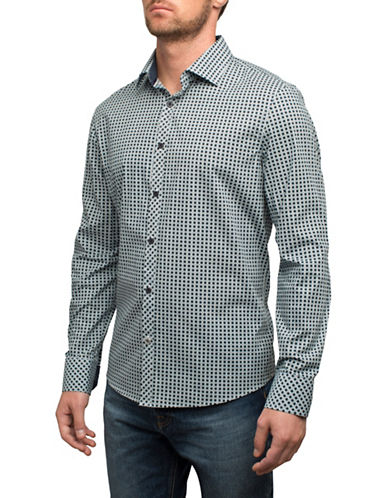 English Laundry Printed Cotton Sport Shirt-BLUE-XX-Large
