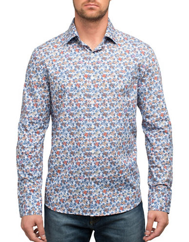 English Laundry Floral Print Sport Shirt-MULTI-COLOURED-Medium