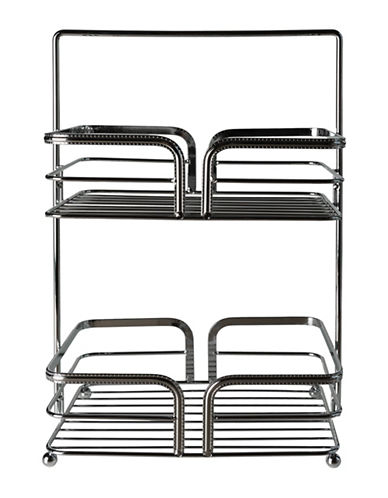 Columbia Darius Two-Tier Steel Storage-CHROME-One Size