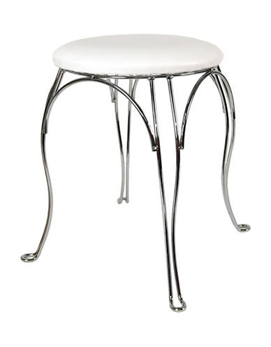 Columbia Finesse Round Vanity Stool-WHITE-One Size
