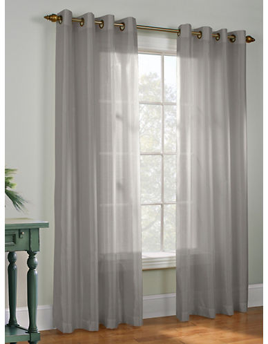 Commonwealth Home Fashions Milano Silk-Look Panel-GREY-95 inches