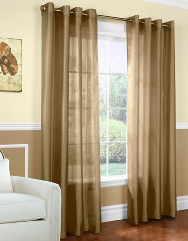 Commonwealth Home Fashions Milano Silk-Look Panel-TAUPE-95 inches