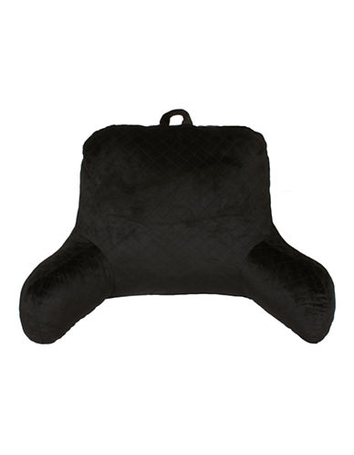 Commonwealth Home Fashions Quilted Bed Rest Pillow-BLACK-One Size