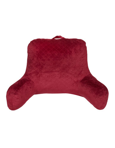 Commonwealth Home Fashions Quilted Bed Rest Pillow-RED-One Size