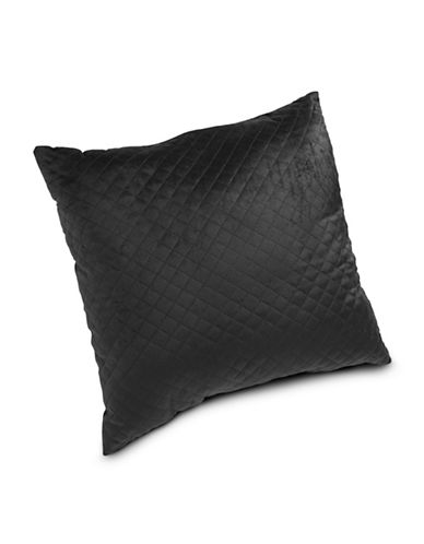 Home Outfitters Quilted Cushion-BLACK-One Size