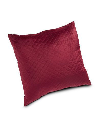 Home Outfitters Quilted Cushion-RED-One Size