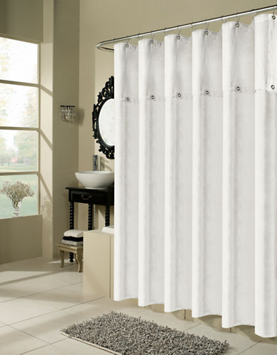 Commonwealth Home Fashions Chandler Waffle-Top Shower Curtain-WHITE-One Size 87226417_WHITE_One Size