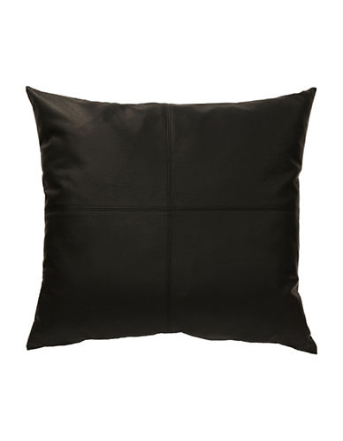 Commonwealth Home Fashions San Franciso Faux Leather Cushion-BLACK-One Size