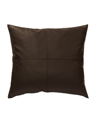 Commonwealth Home Fashions San Franciso Faux Leather Cushion-BROWN-One Size