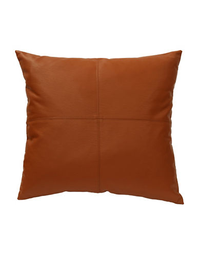 Commonwealth Home Fashions San Franciso Faux Leather Cushion-COGNAC-One Size